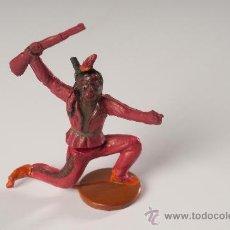 Figuras de Goma y PVC: INDIO EN GOMA, DESMONTABLE, FABRICADO POR GAMA, AÑOS 1950-60. Lote 27147892
