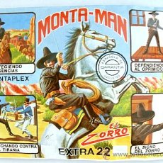 Figurines en Caoutchouc et PVC: SOBRE MONTAPLEX EXTRA Nº 22 MONTAMAN EL ZORRO - SOBRE CERRADO. Lote 176642495