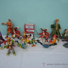 Figuras de Goma y PVC: 17 MUÑEQUITOS DE DISNEY DE GOMA Y PLASTICO. Lote 27645481