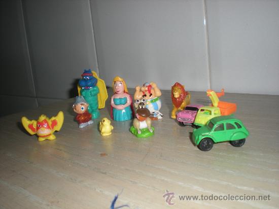 LOTE DE MUÑEQUITOS KINDER MUY CURIOSOS VER FOTO (Juguetes - Figuras de Goma y Pvc - Dunkin)