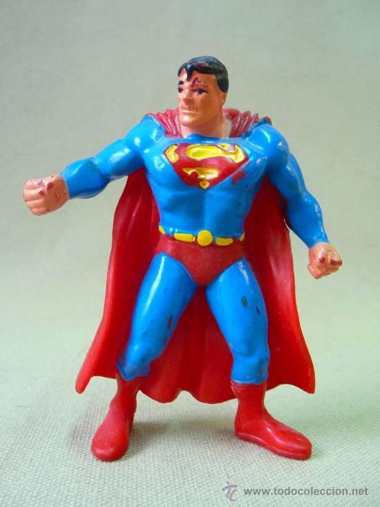 FIGURA DE PVC, SUPERMAN, FABRICADO POR COMIC SPAIN, 1990S (Juguetes - Figuras de Goma y Pvc - Comics Spain)