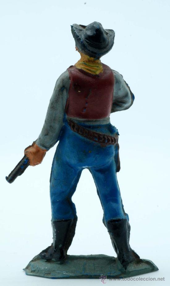 Figuras de Goma y PVC: Vaquero pie Pech Hermanos goma años 50 - Foto 2 - 27935848