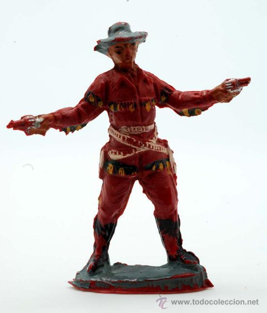 VAQUERO PECH HERMANOS GOMA AÑOS 50 (Juguetes - Figuras de Goma y Pvc - Pech)