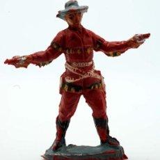 Figuras de Goma y PVC: VAQUERO PECH HERMANOS GOMA AÑOS 50. Lote 27951821