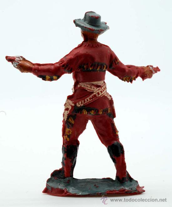 Figuras de Goma y PVC: Vaquero Pech Hermanos goma años 50 - Foto 2 - 27951821