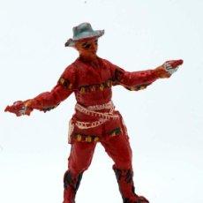 Figuras de Goma y PVC: VAQUERO PECH HERMANOS GOMA AÑOS 50. Lote 27951883