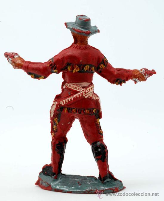 Figuras de Goma y PVC: Vaquero Pech Hermanos goma años 50 - Foto 2 - 27951883