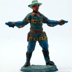 Figuras de Goma y PVC: VAQUERO PECH HERMANOS GOMA AÑOS 50. Lote 27951896