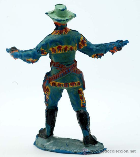 Figuras de Goma y PVC: Vaquero Pech Hermanos goma años 50 - Foto 2 - 27951896