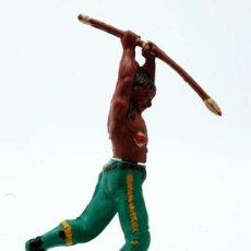 Figuras de Goma y PVC: INDIO DE GAMA GOMA AÑOS 50. Lote 27953570