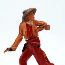 Figuras de Goma y PVC: VAQUERO GAMA GOMA AÑOS 50. Lote 27953597