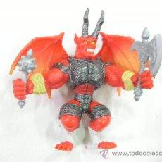 Figuras de Goma y PVC: FIGURA DIABOLICA ALADA CON ARMAS. Lote 27988404