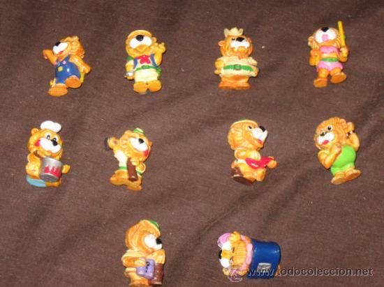 JUGUETES - KINDER - LOTE DE 10 FIGURAS HUEVOS KINDER LEONES (Juguetes - Figuras de Gomas y Pvc - Kinder)