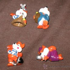 Figuras Kinder: QUEX - JUGUETES - KINDER - LOTE DE 4 FIGURAS HUEVOS KINDER ZORROS. Lote 28386750
