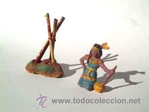 ALCA CAPELL ,INDIA SENTADA + FUEGO.REF,2706 (Juguetes - Figuras de Goma y Pvc - Capell)