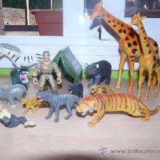 Figuras de Goma y PVC: SET FIGURAS DE ANIMALES DE LA SELVA - ANIMALES DE LA JUNGLA . Lote 28544170