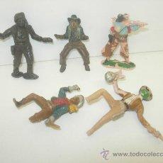 Figuras de Goma y PVC: LOTE 5 VAQUEROS. Lote 28726242