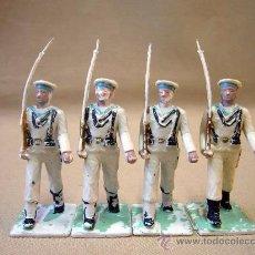 Figuras de Goma y PVC: 4 FIGURAS DE PLASTICO, DESFILE REAMSA, 1970S, ARMADA, MARINA ESPAÑOLA. Lote 28834718