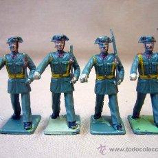 Figuras de Goma y PVC: 4 FIGURAS DE PLASTICO, DESFILE REAMSA, 1970S, GUARDIA CIVIL. Lote 28834784