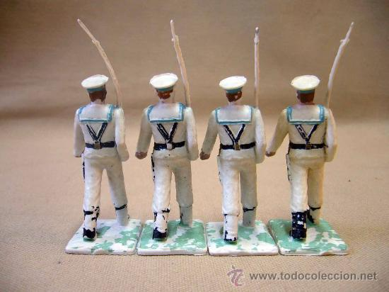 Figuras de Goma y PVC: 4 FIGURAS DE PLASTICO, DESFILE REAMSA, 1970s, ARMADA, MARINA ESPAÑOLA - Foto 2 - 28834718