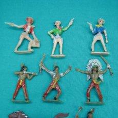 Figuras de Goma y PVC: SOLDADOS Y INDIOS COMANSI. Lote 28904178