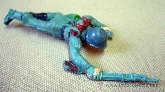 Figuras de Goma y PVC: FIGURA DE PLASTICO, SOLDADO ALEMAN, FABRICADO POR PECH - Foto 2 - 28933787