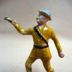 Figuras de Goma y PVC: FIGURA DE GOMA, SOLDADO AMERICANO, CAQUI, FABRICADO POR CAPELL. Lote 29057965