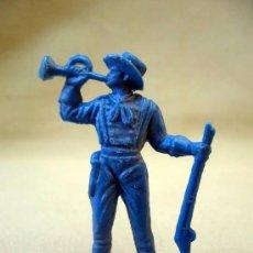 Figuras de Goma y PVC: FIGURA DE PLASTICO, TROMPETA, SOLDADO YANKEE, SEPTIMO, POSIBLEMENTE, PIPERO DE OLIVER, 5,5 CM. Lote 29023196
