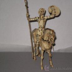 Figuras de Goma y PVC: FIGURA DE DON QUIJOTE DE LA MANCHA SOBRE SU CABALLO ROCINANTE , EN PVC . . Lote 29095227