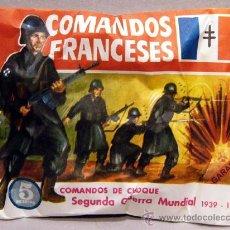 Figuras de Goma y PVC: SOBRE MONTAPLEX ORIGINAL COMANDOS FRANCESES SERIE EJERCITOS DEL MUNDO SEGUNDA GUERRA MUNDIAL 2WW. Lote 235608850