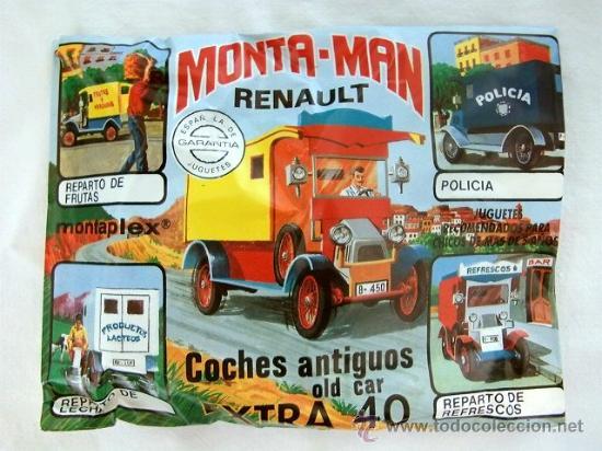 SOBRE MONTAPLEX EXTRA Nº 40 MONTAMAN COCHES ANTIGUOS RENAULT - SOBRE CERRADO (Juguetes - Figuras de Goma y Pvc - Montaplex)