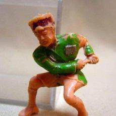 Figuras de Goma y PVC: FIGURA DE PLASTICO, ESTEREOPLAST, SERIE COSACO VERDE. Lote 29660712