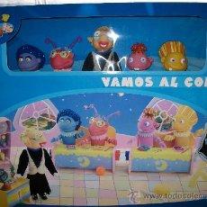 Figuras de Goma y PVC: LOS LUNNIS - VAMOS AL COLE - FAMOSA - PRECINTADO - 5 FIGURAS + ESCENARIO ESCOLAR. Lote 29722464
