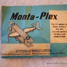 Figuras de Goma y PVC: MONTAPLEX SOBRE CERRADO - AVION SIX - 1ª GENERACION - ORIGINAL AÑO 1967 MADE IN SPAIN.. Lote 244473415