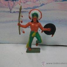 Figuras de Goma y PVC: EXCELENTE FIGURA STARLUX - - INDIO STARLUX. Lote 29844064