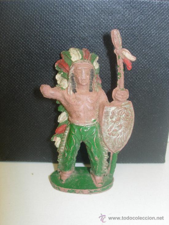 FIGURA GOMA JEFE INDIO LAFREDO (Juguetes - Figuras de Goma y Pvc - Lafredo)