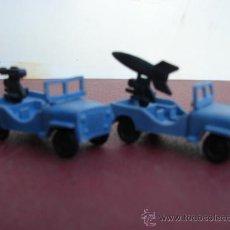 Figuras de Goma y PVC: 2 JEEPS CON MISIL Y CAÑÓN - MONTAPLEX. Lote 30263708