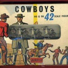 Figuras de Goma y PVC: CAJA AIRFIX, COWBOYS, CON 42 FIGURAS DE GOMA, SIN ESTRENAR, ORIGINAL. Lote 30274827