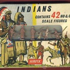 Figuras de Goma y PVC: CAJA AIRFIX, INDIANS INDIOS , CON 42 FIGURAS DE GOMA, SIN ESTRENAR, ORIGINAL. Lote 30274844