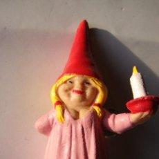 Figuras de Goma y PVC: GNOMA CON VELA DE DAVID EL GNOMO. Lote 30379559