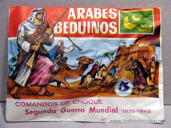 SOBRE MONTAPLEX GRUPOS DE COMBATE ARABES BEDUINOS MONTAPLES SOLDADITOS (Juguetes - Figuras de Goma y Pvc - Montaplex)
