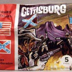 Figuras de Borracha e PVC: SOBRE MONTAPLEX GRANDES BATALLAS GETTISBURG YANKEES CONFEDERADOS AMERICAN CIVIL WAR USA. Lote 204203688