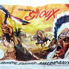 Figuras de Goma y PVC: SOBRE MONTAPLEX SERIE OESTE AMERICANO ATAQUE SIOUX INDIOS AMERICANOS FAR WEST USA MONTAPLES. Lote 120573662