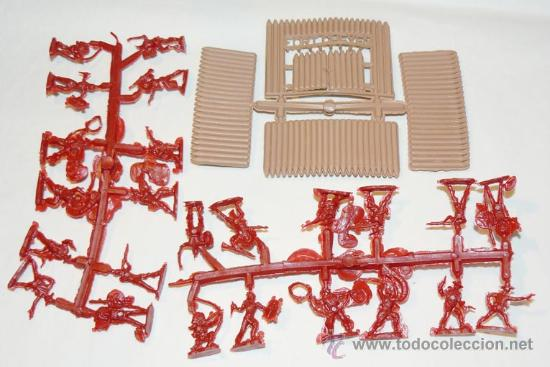 Figuras de Goma y PVC: MONTAPLEX SOBRE FAR WEST OESTE AMERICANO INDIOS VAQUEROS USA soldaditos 1 72 - Foto 2 - 151185981