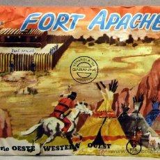 Figuras de Goma y PVC: MONTAPLEX SERIE OESTE AMERICANO FORT APACHE INDIOS VAQUEROS COW BOYS FAR WEST USA. Lote 287997463