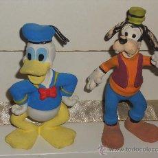 Figuras de Goma y PVC: ANTIGUA FIGURA DE GOMA DEL PATO DONALD Y PLUTO .. Lote 30567775