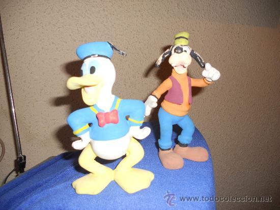 Figuras de Goma y PVC: ANTIGUA FIGURA DE GOMA DEL PATO DONALD Y PLUTO . - Foto 3 - 30567775