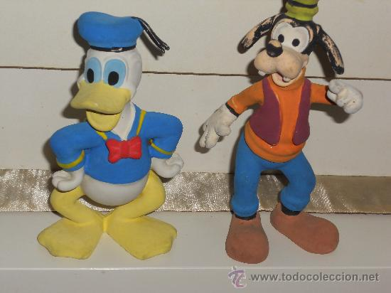 Figuras de Goma y PVC: ANTIGUA FIGURA DE GOMA DEL PATO DONALD Y PLUTO . - Foto 5 - 30567775