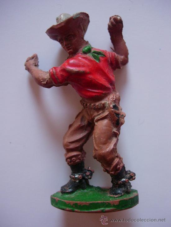 FIGURA VAQUERO EN GOMA DE LAFREDO (Juguetes - Figuras de Goma y Pvc - Lafredo)