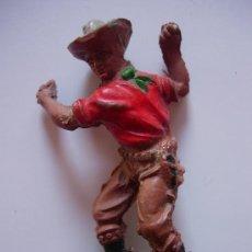 Figuras de Goma y PVC: FIGURA VAQUERO EN GOMA DE LAFREDO. Lote 30770656